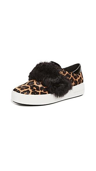 fur faux fur sneakers platform sneakers black shoes
