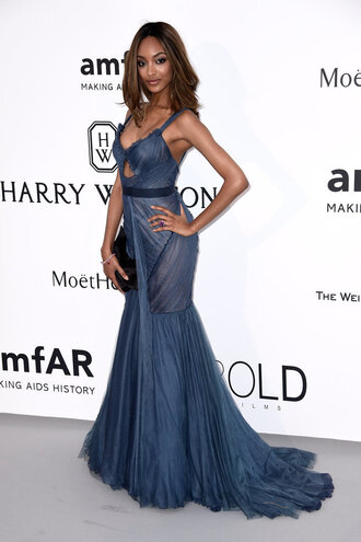dress gown prom dress jourdan dunn cannes