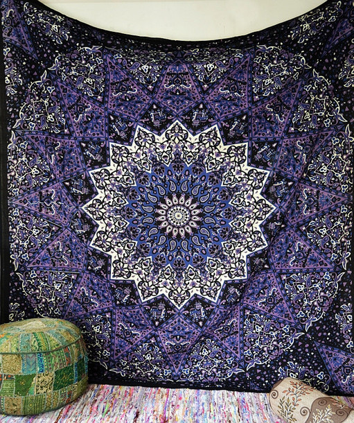 home accessory tapestry wall hanging hippie hippie mandala psychedelic star tapestry