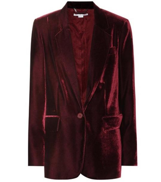 Stella McCartney Nicole velvet blazer in red