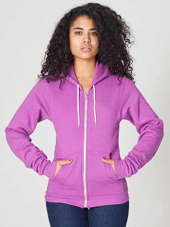 Unisex Flex Fleece Zip Hoodie | American Apparel