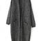 Back-slit with pockets loose cardigan -shein(sheinside)