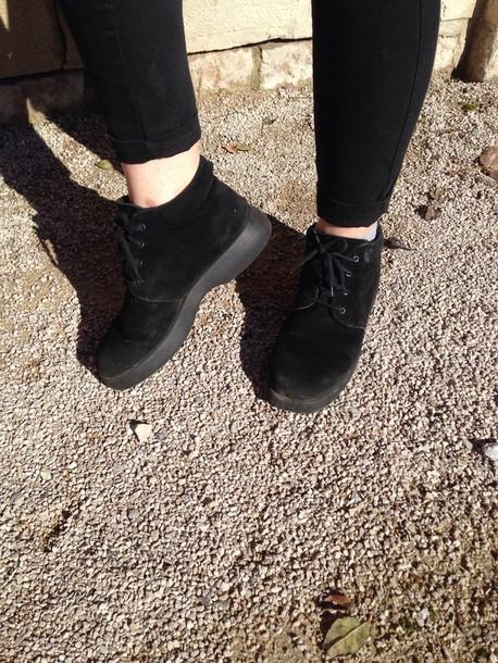 shoes black shoes suede flat