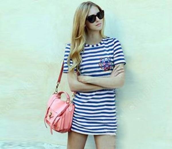 dress tee dress nautical dress navy dress t-shirt tunic dress summer striped dress