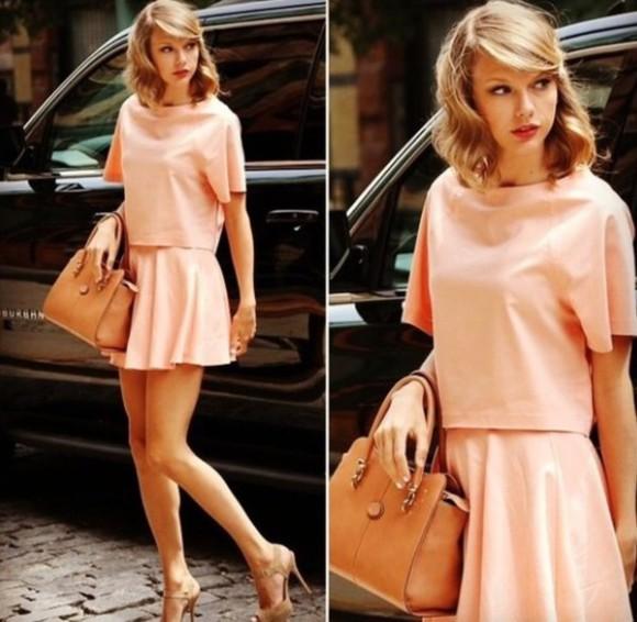 skirt top taylor swift bag sets look pastel pink