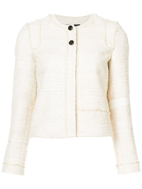 jacket embroidered women nude cotton silk