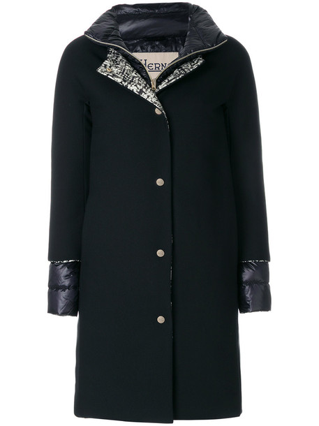 Herno coat women layered black
