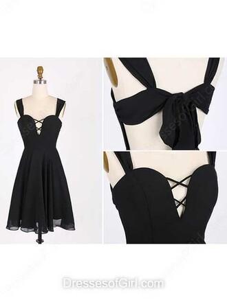 dress a-line v neck chiffon short mini ruffle prom dress