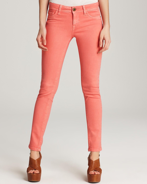 Dl1961 Jeans Amanda Skinny Jeans In Coral Denim
