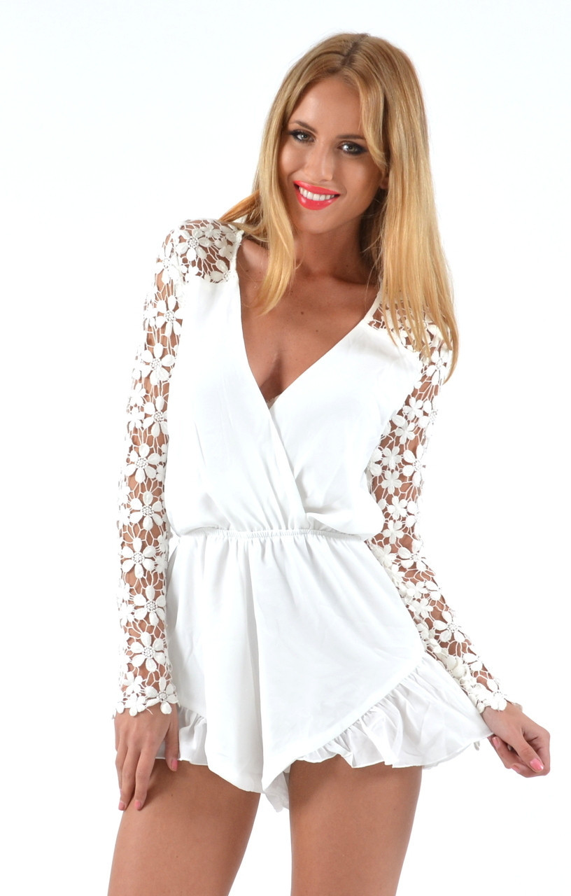 """Chic """"all suited up"""" laces romper (2 colors available) – glamzelle"""