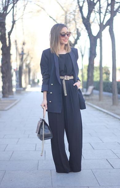 besugarandspice blogger pants blouse jewels shoes bag jacket