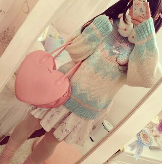 sweater sweater weather japanese japanese sweater knitted sweater knitwear kawaii kawaii sweater pastel goth pastel pastel color pastel sweater candy color candy sweater harajuku japanese fashion japanese streets cute sweaters cute sweater cute pullover knitted pullover kawaii pullover bag skirt