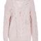 Pink wool cashmere v panel sweater by prabal gurung   moda operandi
