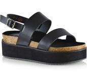 shoes,black flatform sandals