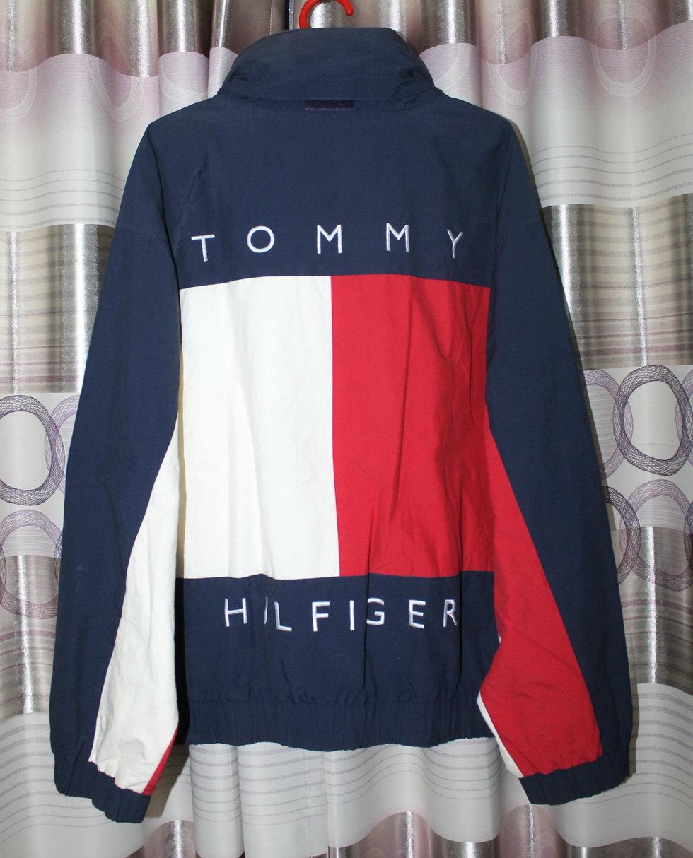 vintage tommy hilfiger color block flag reversible jacket. Black Bedroom Furniture Sets. Home Design Ideas