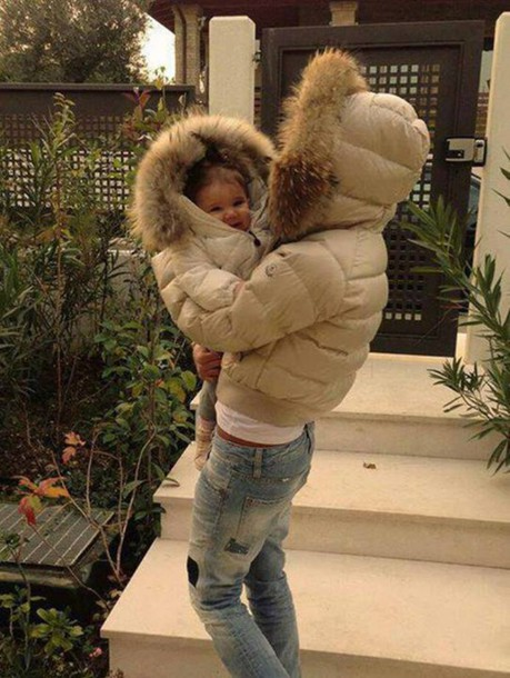 jacket beige jacket fur jacket short jacket kids fashion