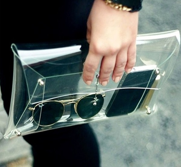 bag clutch transparent transparent  bag