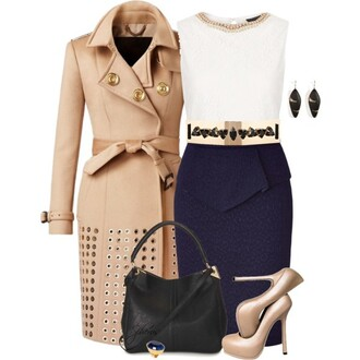 coat burberry trench coat cashmere designer dress bag earrings heels