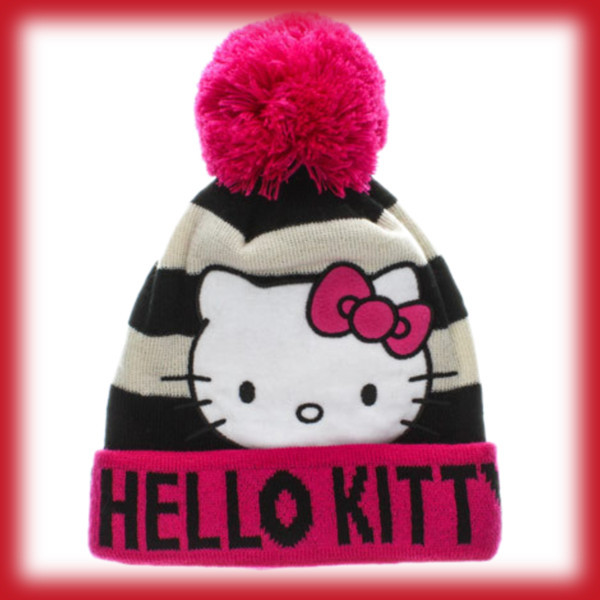 hat beanie hello kitty pink