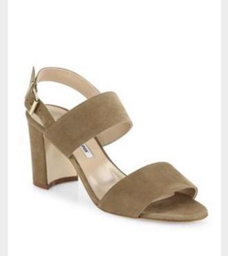 shoes beige sandal block heels