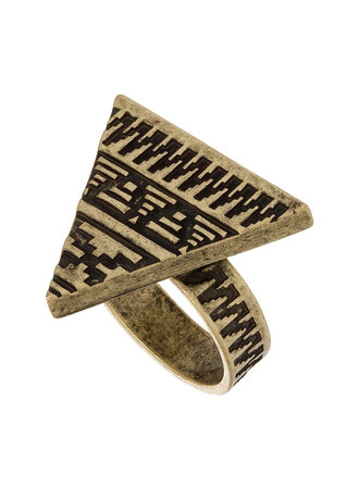 jewels hipster triangle aztec ring gold gold ring