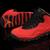 Female Jordan 10 Fusion Red Black GS Nike Sport Shoes