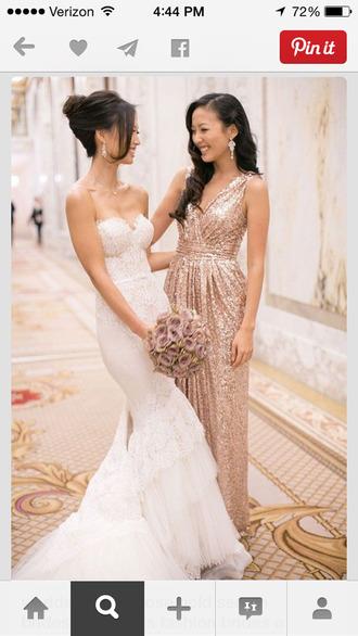 long gold sequin bridesmaids dress bridesmaid sequin dress sequins