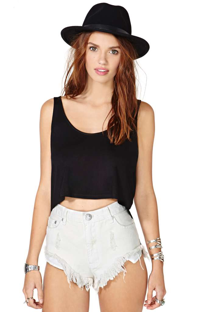 Nasty Gal Cross Off Crop Top | Shop Designed By Us at Nasty Gal