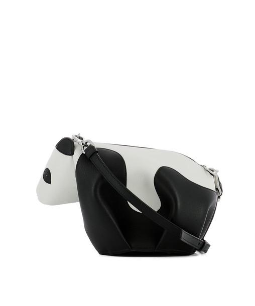 LOEWE bag shoulder bag leather white black black and white multicolor