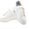 White/blue leather sneakers