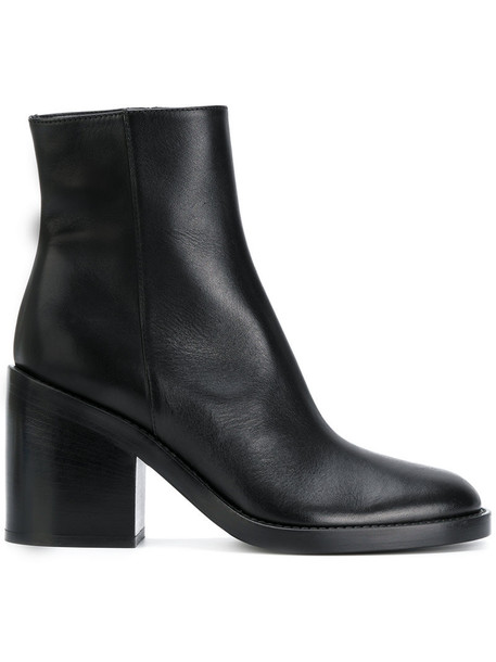 ANN DEMEULEMEESTER women boots ankle boots leather black shoes