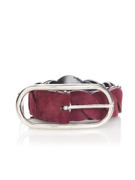 Emilio Pucci belt suede burgundy