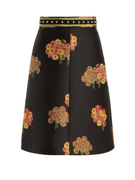 REDValentino skirt midi skirt midi floral black