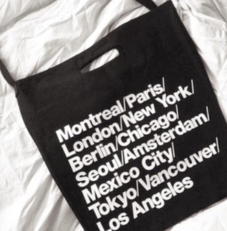 bag american apparel grunge bag aesthetic black bag aesthetic tumblr tumblr soft grunge cities bag