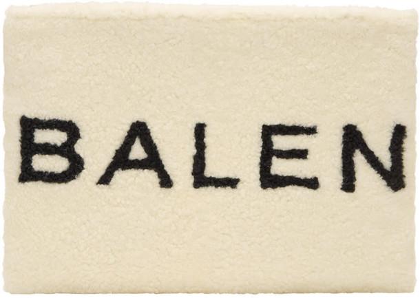 Balenciaga pouch white black bag