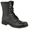 Ladies womens low heel flat lace up biker army military combat ankle boots size | ebay