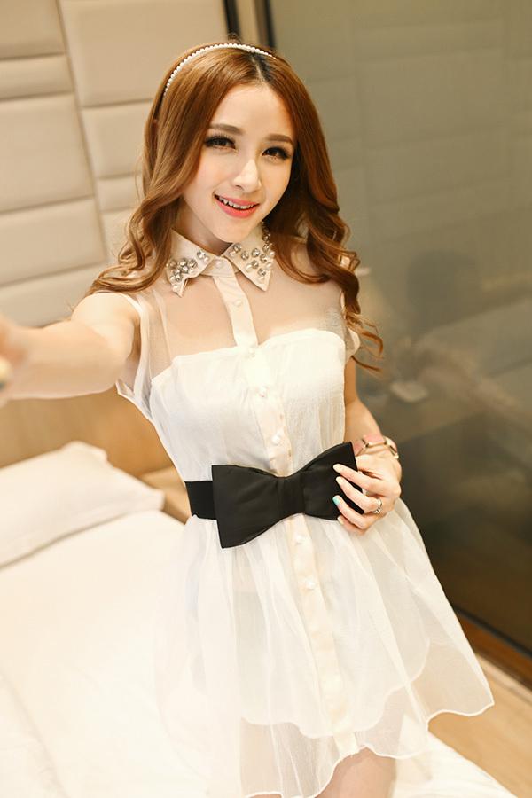 2014 neue organza perlen strass kleid weste ballkleid kleid schlank hinzufügen bogen gürtel frei