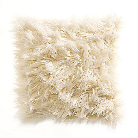 Kenneth Cole Reaction Home Landscape Faux-Fur Square Toss Pillow - BedBathandBeyond.com