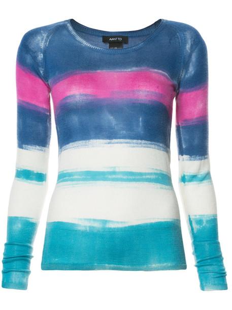 AVANT TOI jumper women blue silk sweater