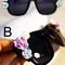 Women embellished shaped rose semi transparent gradient lenses sunglasses | ebay