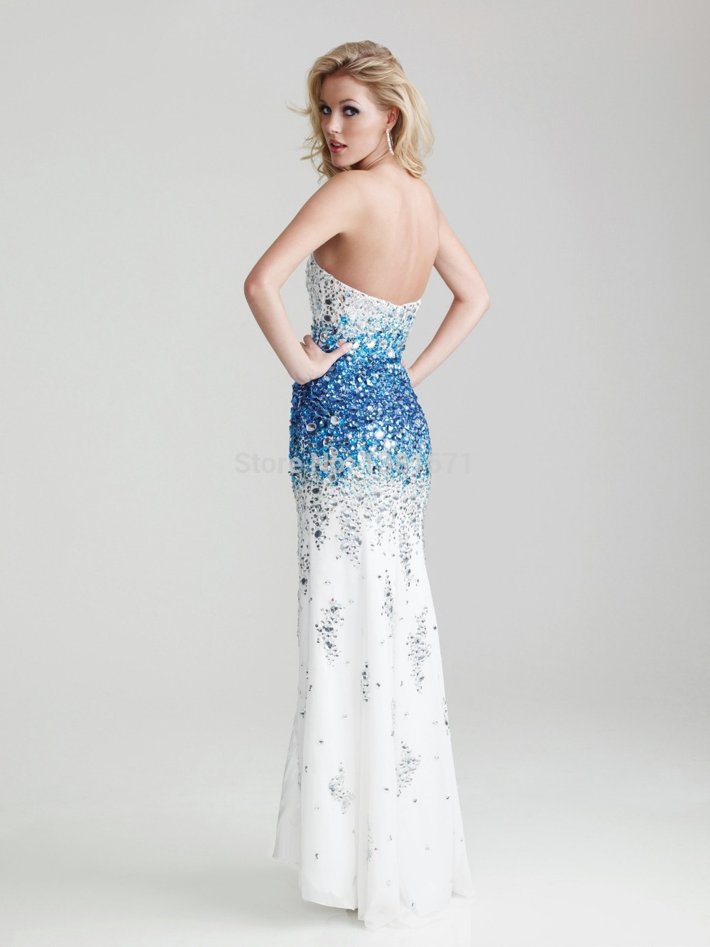 Aliexpress.com : Buy Free Shipping  New Arrival 100% Shining Crystal Handwork High End Occasion Elegance Evening Dress from Reliable dress skull suppliers on Aojia Top Evening Dress