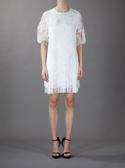 Stella Mccartney Lace Fringed Dress -  - Farfetch.com