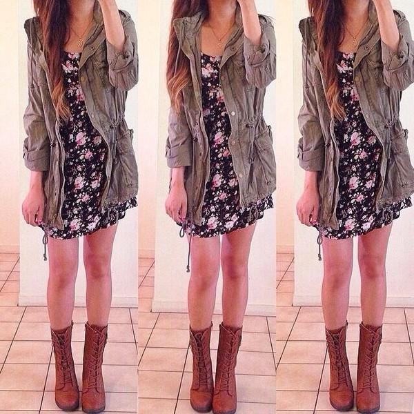 dress floral dress jacket