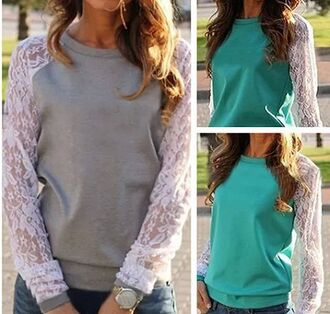 blouse long sleeves sweat shirts