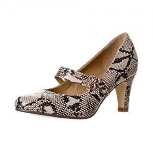 Brown Snakeskin Mary Jane Pumps Mid Heel Pumps Vintage Shoes