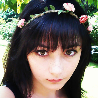hair accessories flower crown black hair cat eye