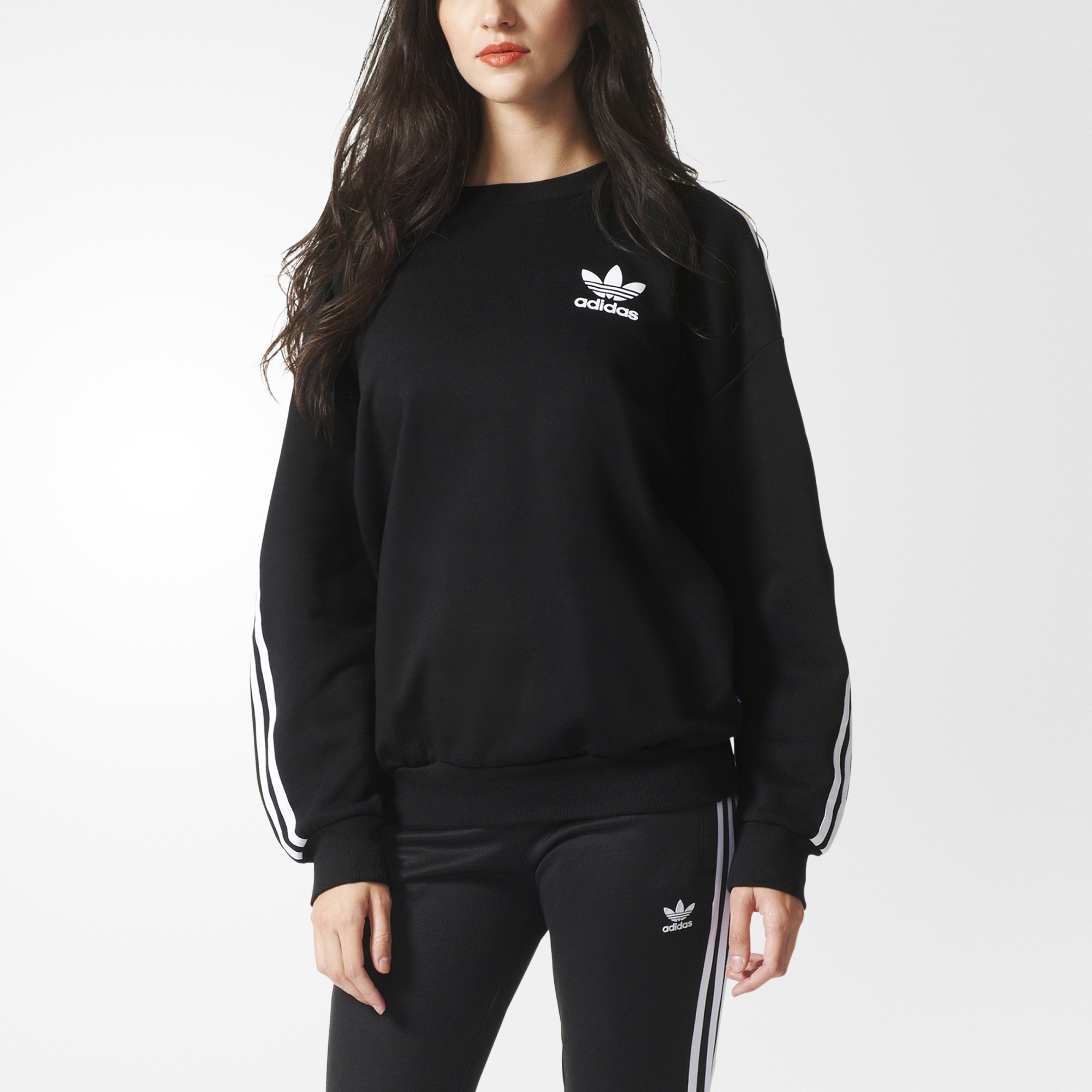 Sweat shirt 3 Stripes noir adidas | adidas France