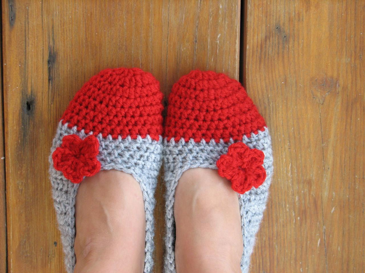 Crochet Women Slippers - Accessories, Adult Crochet Slippers, Home Shoes, Crochet Women Slippers on Luulla