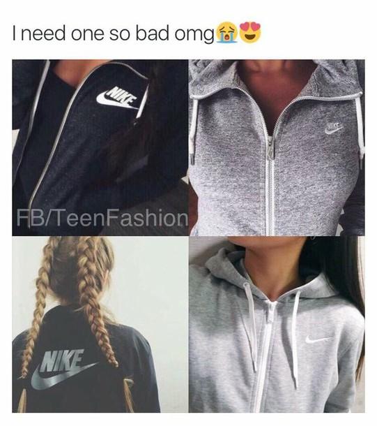 b66ac2c34f39 jacket black grey nike jacket nike grey sweater black sweater black jacket  nike sweater nike hoodie