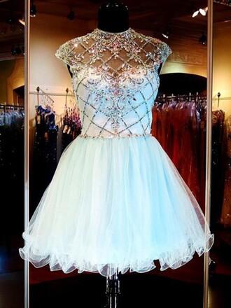 dress blue fashion style girly tutu dress trendy puffy dressofgirl prom cocktail dress